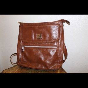 Relic Brown leather satchel/shoulder bag